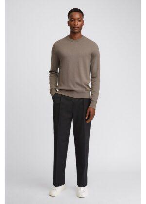 Filippa K Cotton Merino Sweater Dark Taupe Melange