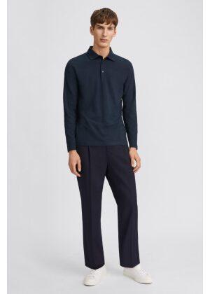 Filippa K Luke Lycra Polo Shirt Navy