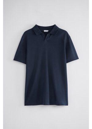 Filippa K Lycra Polo T-Shirt Navy