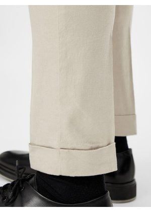 J.Lindeberg Grant Linen Stretch Pants Sand Grey