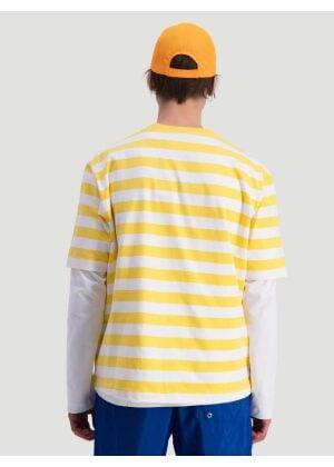 Hanger By Holzweiler Hanger Striped Tee Yellow White
