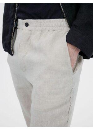 J.Lindeberg Sasha Drape Linen Pants Sand Melange