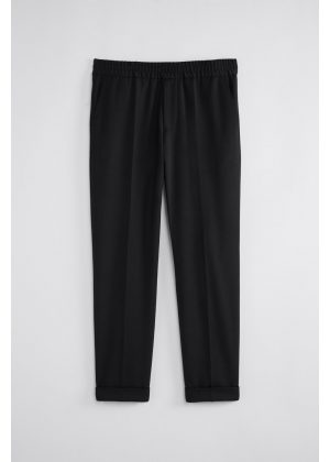 Filippa K Terry Cropped Trouser Black