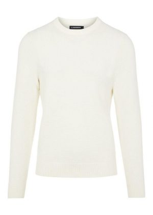 J.Lindeberg Andy Structure C-Neck Sweater Cloud White