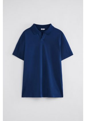Filippa K Lycra Polo T-Shirt Marine Blue