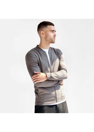 Bread & Boxers Jersey Jacket Mole Grey