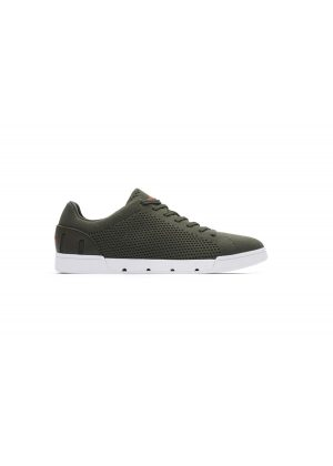 Swims Breeze Tennis Knit Olive/White
