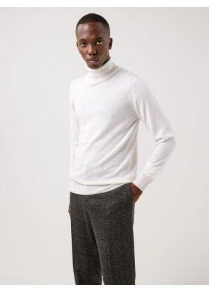J.Lindeberg Lyd Merino Turtleneck Sweater White