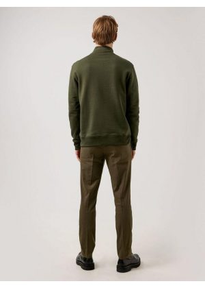 J.Lindeberg Chip Quarter Zip Sweatshirt Seaweed Green