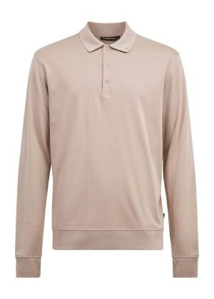 J.Lindeberg Adam Long Sleeve Polo Sweater Oyster Brown