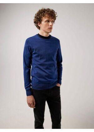 J.Lindeberg Lyle Merino Crew Neck Sweater Majolica Blue