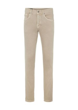 J.Lindeberg Jay Active Overdyed Jeans Oyster Brown