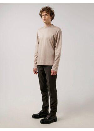 J.Lindeberg Ace Mock Neck LS T-Shirt Oyster Brown