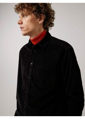 J.Lindeberg Corduroy Reg Fit Shirt Black