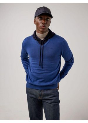 J.Lindeberg Lymann Merino V-Neck Sweater Majolica Blue