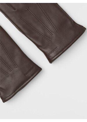 J.Lindeberg Milo Leather Glove Umber Brown
